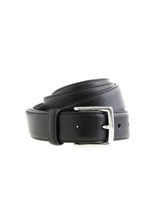 J.Crew | Black Classic Leather Dress Belt for Men | Lyst