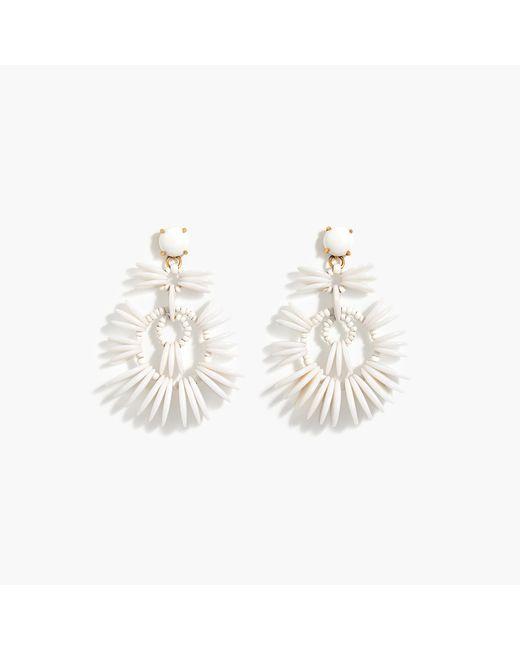 J.Crew | White Disc Statement Earrings | Lyst