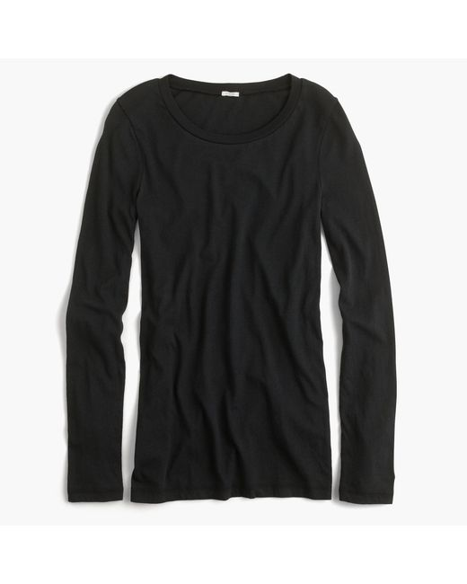 J.Crew | Black Tissue Long-sleeve T-shirt | Lyst