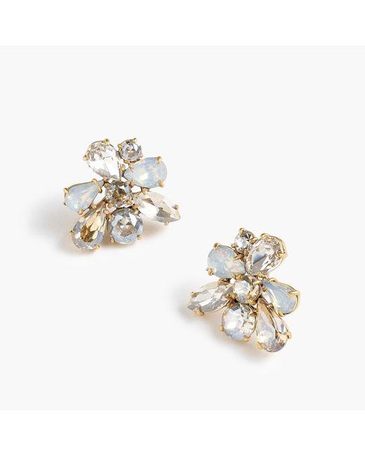 J.Crew - Multicolor Crystal Cluster Earrings - Lyst
