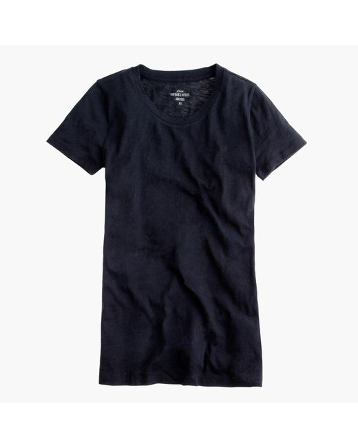 J.Crew | Black Vintage Cotton T-shirt | Lyst