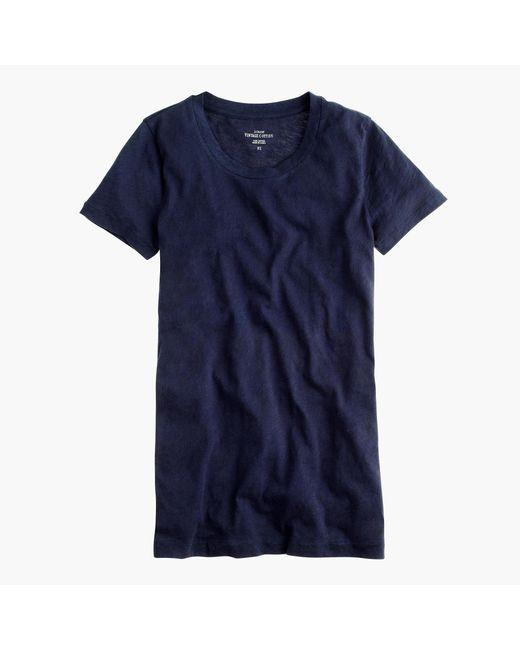J.Crew | Blue Vintage Cotton T-shirt | Lyst