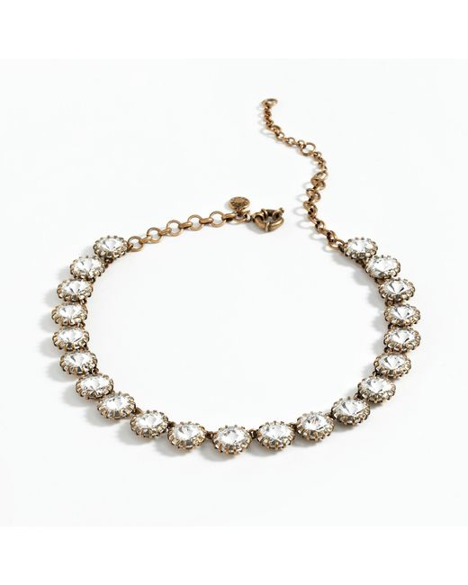 J.Crew | Metallic Crystal Venus Flytrap Necklace | Lyst