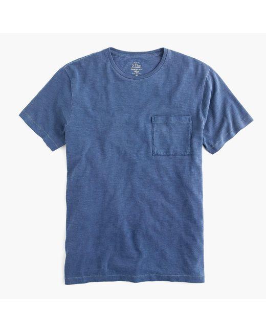 J.Crew - Blue Tall Slub Cotton Garment-dyed T-shirt for Men - Lyst