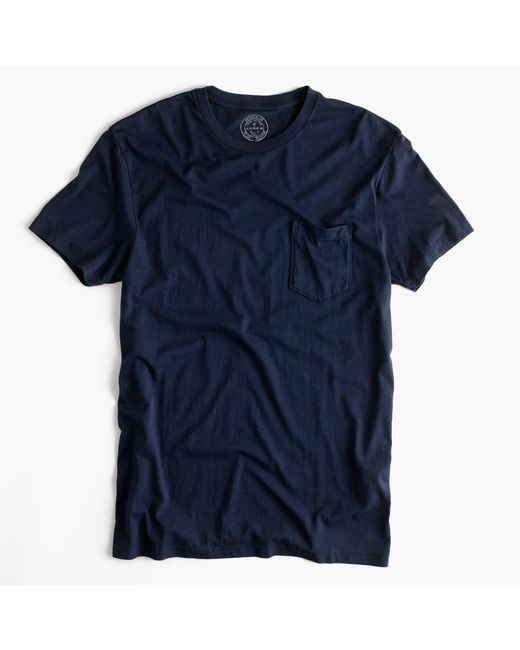J.Crew | Blue Slim Broken-in Pocket T-shirt for Men | Lyst