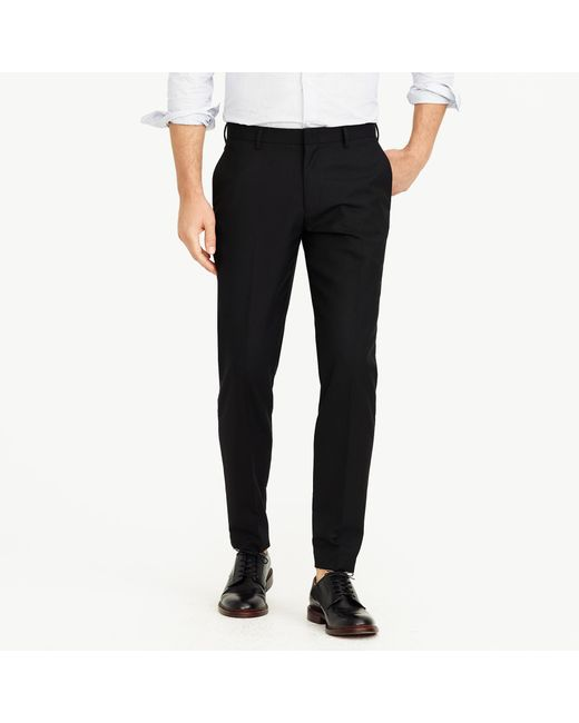 J.Crew | Black Ludlow Suit Pant In Italian Wool for Men | Lyst