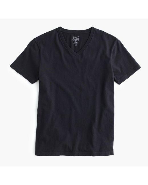 J.Crew - Black Slim Broken-in V-neck T-shirt for Men - Lyst