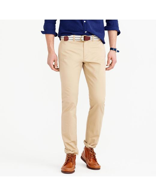 J.Crew | Natural Essential Chino Pant In 484 Slim Fit for Men | Lyst
