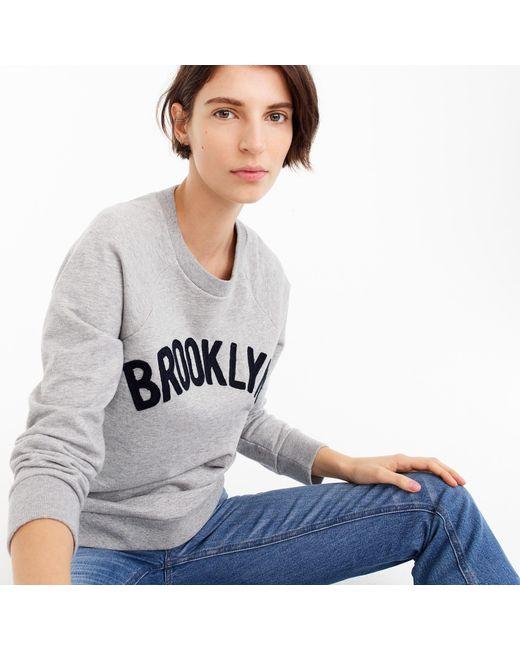 "J.Crew - Gray ""brooklyn"" Pullover Sweatshirt - Lyst"