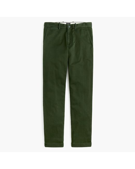 J.Crew - Green 770 Straight Stretch Chino Cabin Pant With Plaid Flannel Lining for Men - Lyst