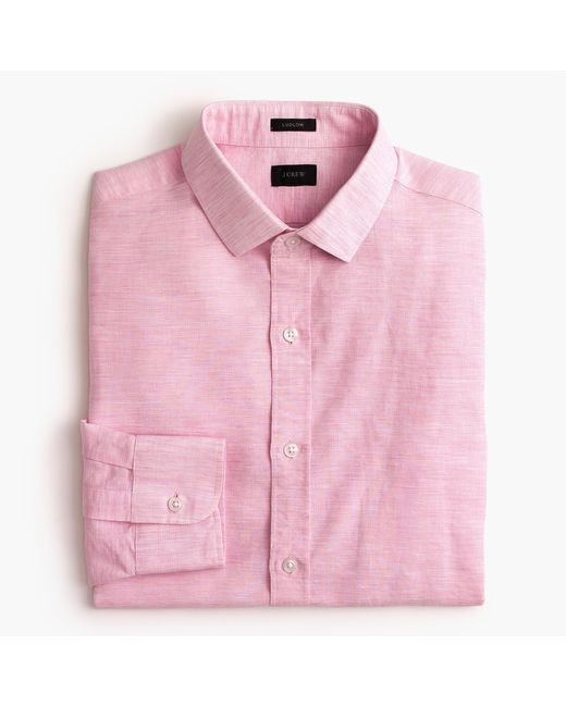 J.Crew | Multicolor Ludlow Shirt In End-on-end Cotton-linen | Lyst