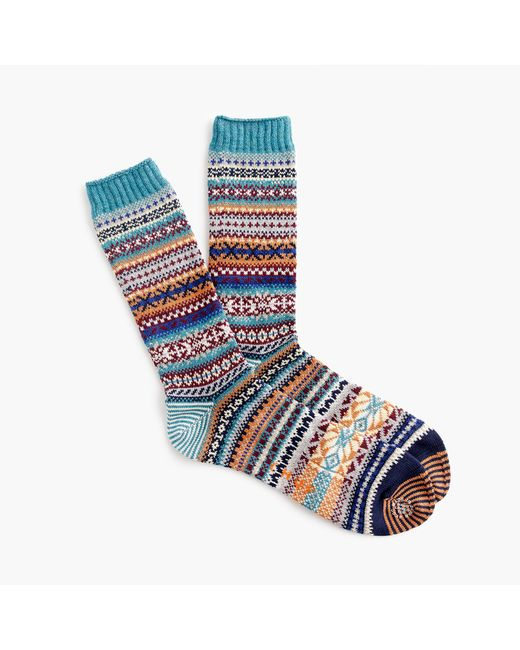 J.Crew - Blue Chup Teal Socks - Lyst