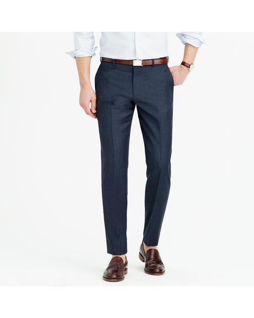 J.Crew - Blue Ludlow Suit Pant In Italian Worsted Wool for Men - Lyst