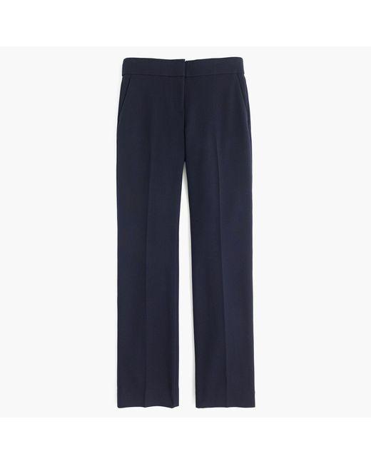 J.Crew - Blue Petite Edie Full-length Pant In Four-season Stretch - Lyst