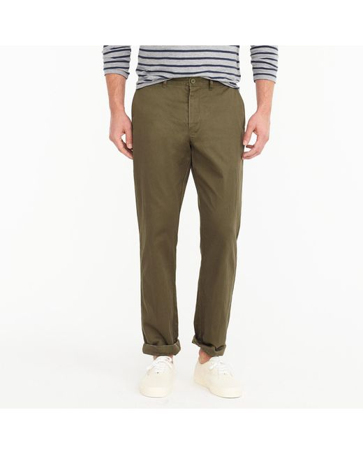 J.Crew | Green Stretch Chino In 1040 Athletic Fit for Men | Lyst