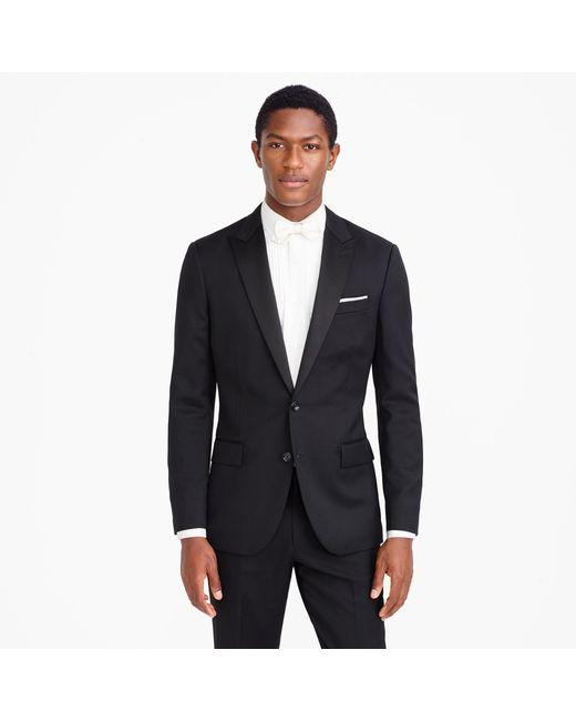 J.Crew - Black Ludlow Tuxedo Jacket In Italian Wool for Men - Lyst