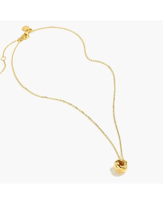 J.Crew - Metallic Demi-fine 14k Gold-plated Knot Pendant Necklace - Lyst