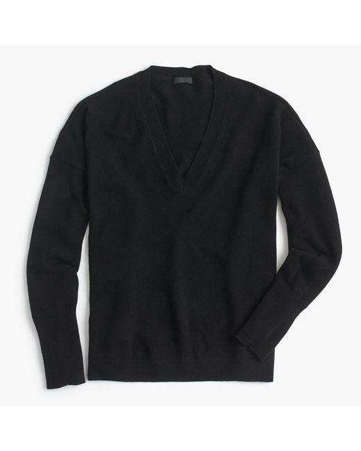 J.Crew - Black V-neck Boyfriend Sweater In Everyday Cashmere for Men - Lyst