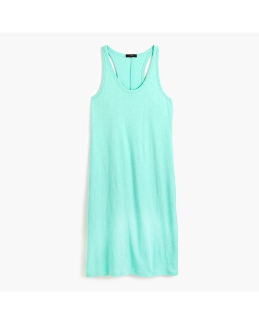 J.Crew - Blue Racerback Tank Dress - Lyst