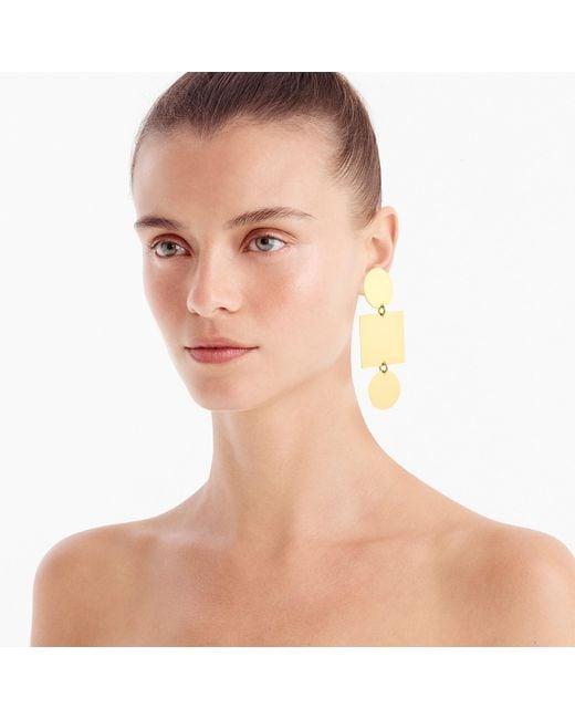 J.Crew - Metallic Geometric Earrings - Lyst