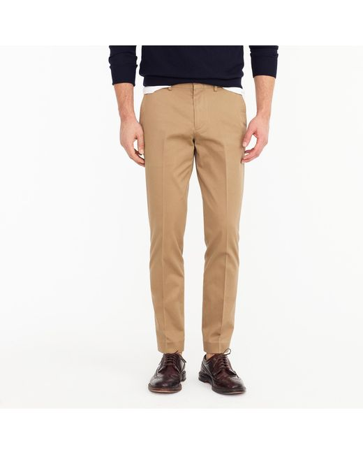 J.Crew - Natural Bowery Slim Pant In Stretch Chino for Men - Lyst