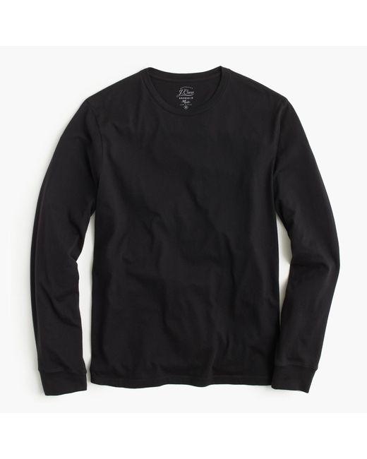 J.Crew   Black Tall Broken-in Long-sleeve T-shirt for Men   Lyst