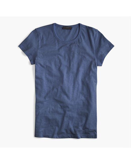 J.Crew | Blue Crewneck T-shirt In Slub Cotton for Men | Lyst