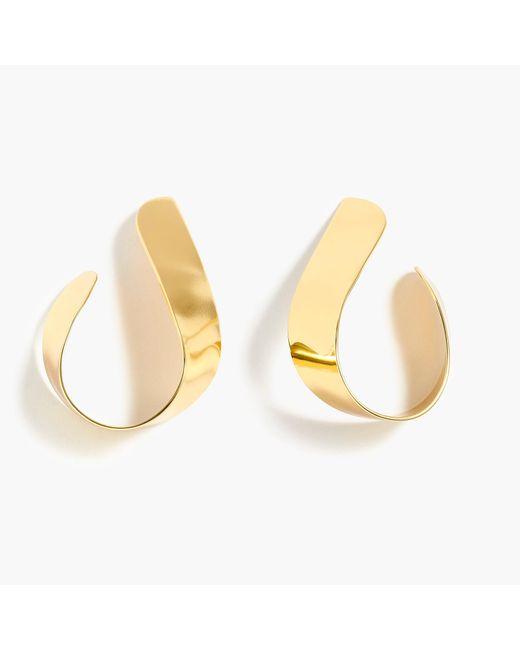 J.Crew - Metallic Twisted Ribbon Hoop Earrings - Lyst