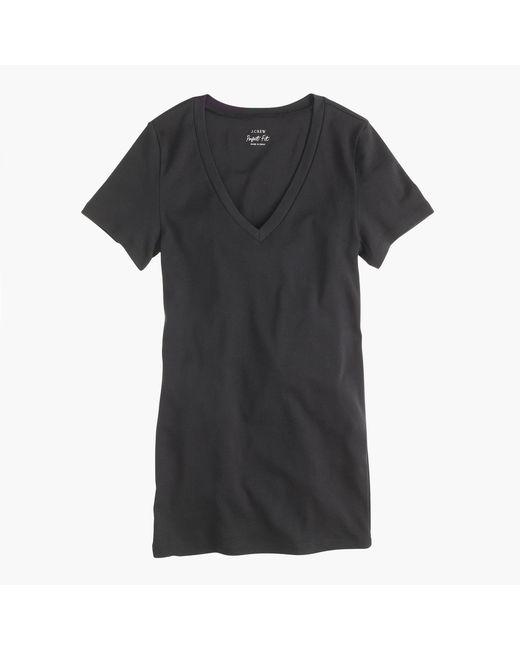 J.Crew - Black Perfect-fit V-neck T-shirt - Lyst