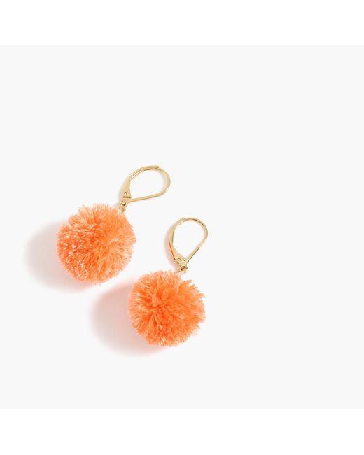 J.Crew - Multicolor Pom-pom Earrings - Lyst