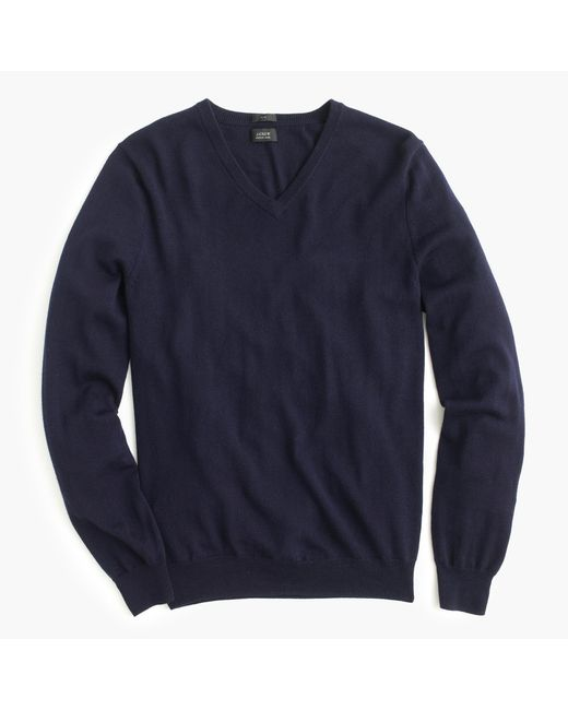 J.Crew | Blue Merino Wool V-neck Sweater for Men | Lyst