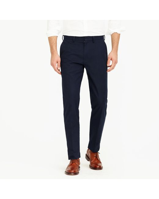 J.Crew - Gray Bowery Classic-fit Pant In Cotton Twill for Men - Lyst