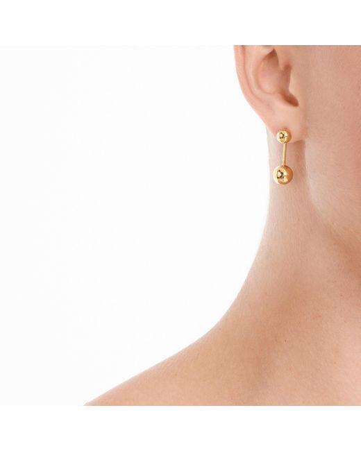 J.Crew - Metallic Demi-fine 14k Gold-plated Double-orb Earrings - Lyst