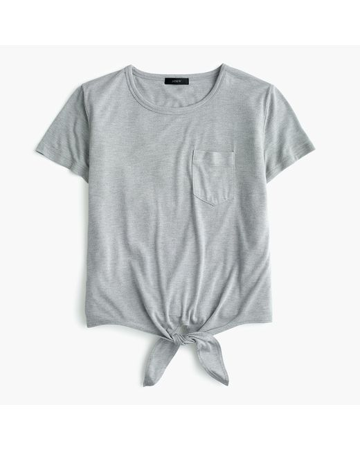 J.Crew - Gray Knotted Pocket T-shirt - Lyst