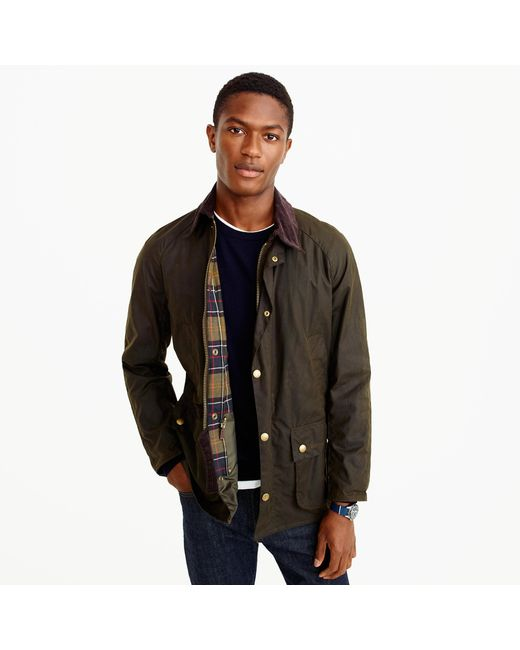 J.Crew   Green Barbour Sylkoil Ashby Jacket for Men   Lyst