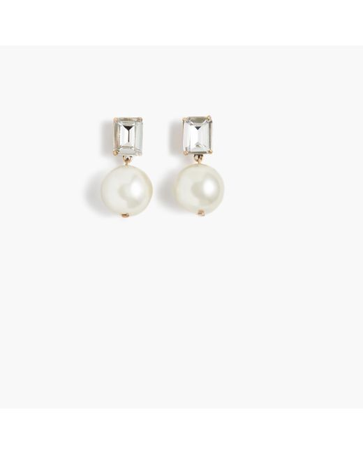 J.Crew | Metallic Gem Pearl Earrings | Lyst