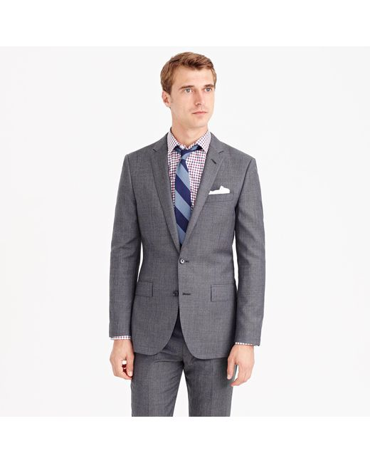 J.Crew | Gray Ludlow Suit Jacket With Center Vent In Italian Worsted Wool for Men | Lyst