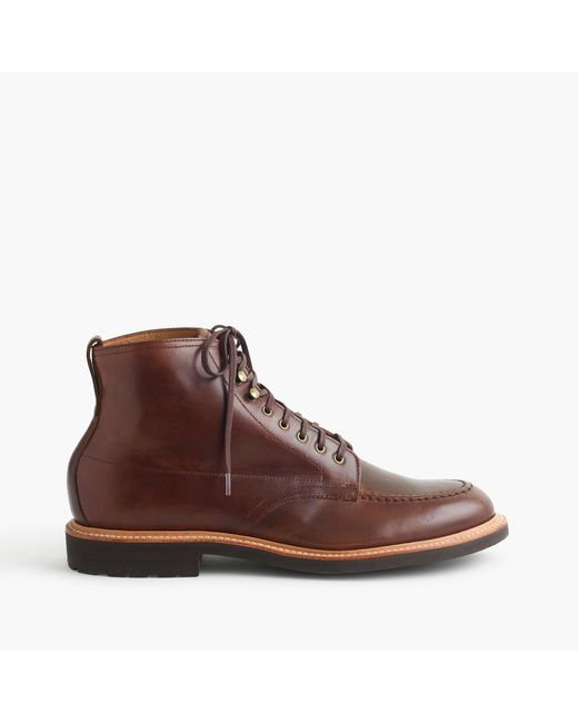 J.Crew | Brown Kenton Cap-toe Leather Boots for Men | Lyst