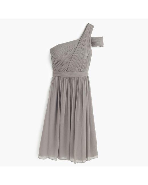 J.Crew | Gray Cara Dress In Silk Chiffon | Lyst