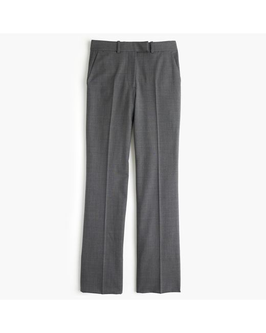 J.Crew | Gray Preston Pant In Italian Stretch Wool | Lyst