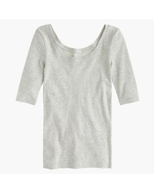 J.Crew | Green Perfect-fit Scoopneck T-shirt | Lyst