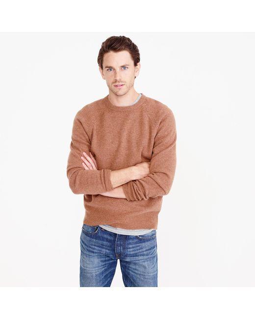 J.Crew | Brown Slim Lambswool Sweater for Men | Lyst