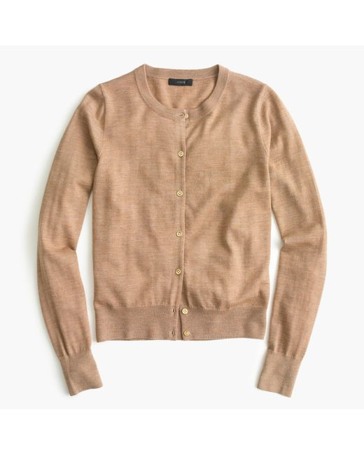 J.Crew | Natural Lightweight Wool Jackie Cardigan Sweater | Lyst