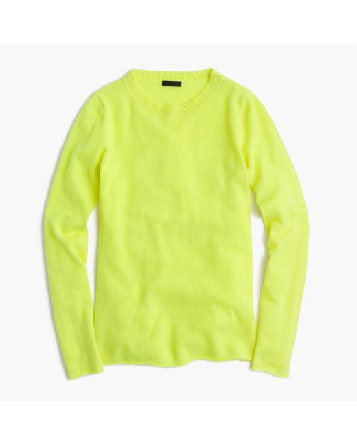 J.Crew | Green Italian Cashmere Long-sleeve T-shirt | Lyst