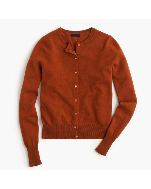 J.Crew | Brown Italian Cashmere Cardigan Sweater | Lyst