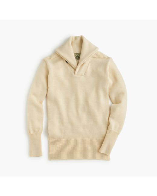 J.Crew | Natural North Sea Clothing Expedition Shawl-collar Sweater for Men | Lyst