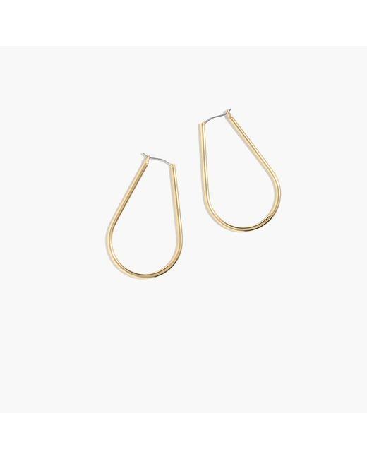 J.Crew | Metallic Horseshoe Hoop Earrings | Lyst