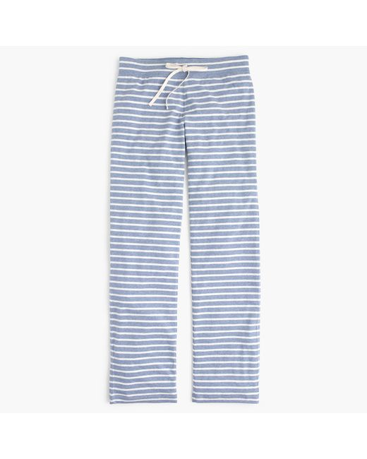 J.Crew | White Tall Dreamy Cotton Pant In Stripe | Lyst