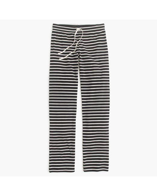 J.Crew   Black Dreamy Cotton Pant In Stripe   Lyst