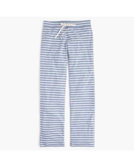 J.Crew | White Dreamy Cotton Pant In Stripe | Lyst